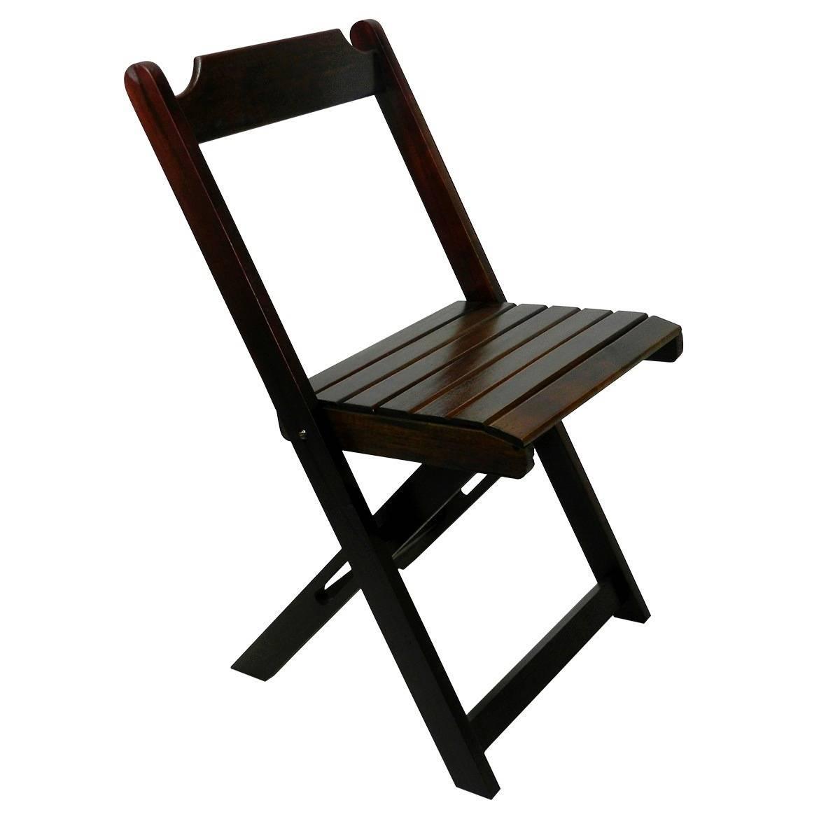 Imagem Cadeiras de Madeira Dobráveis