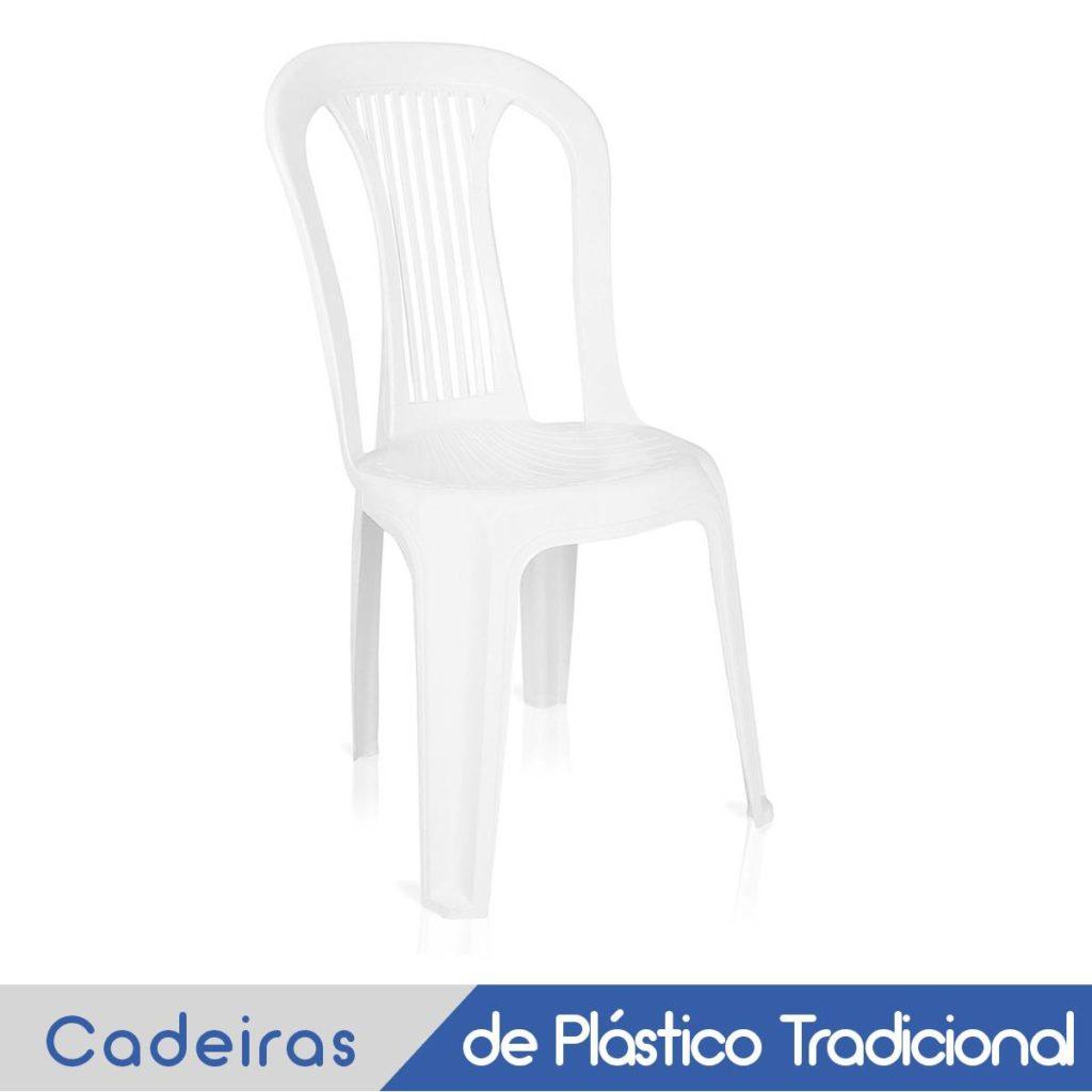 Imagem Cadeira Plástica Branca sem Braço