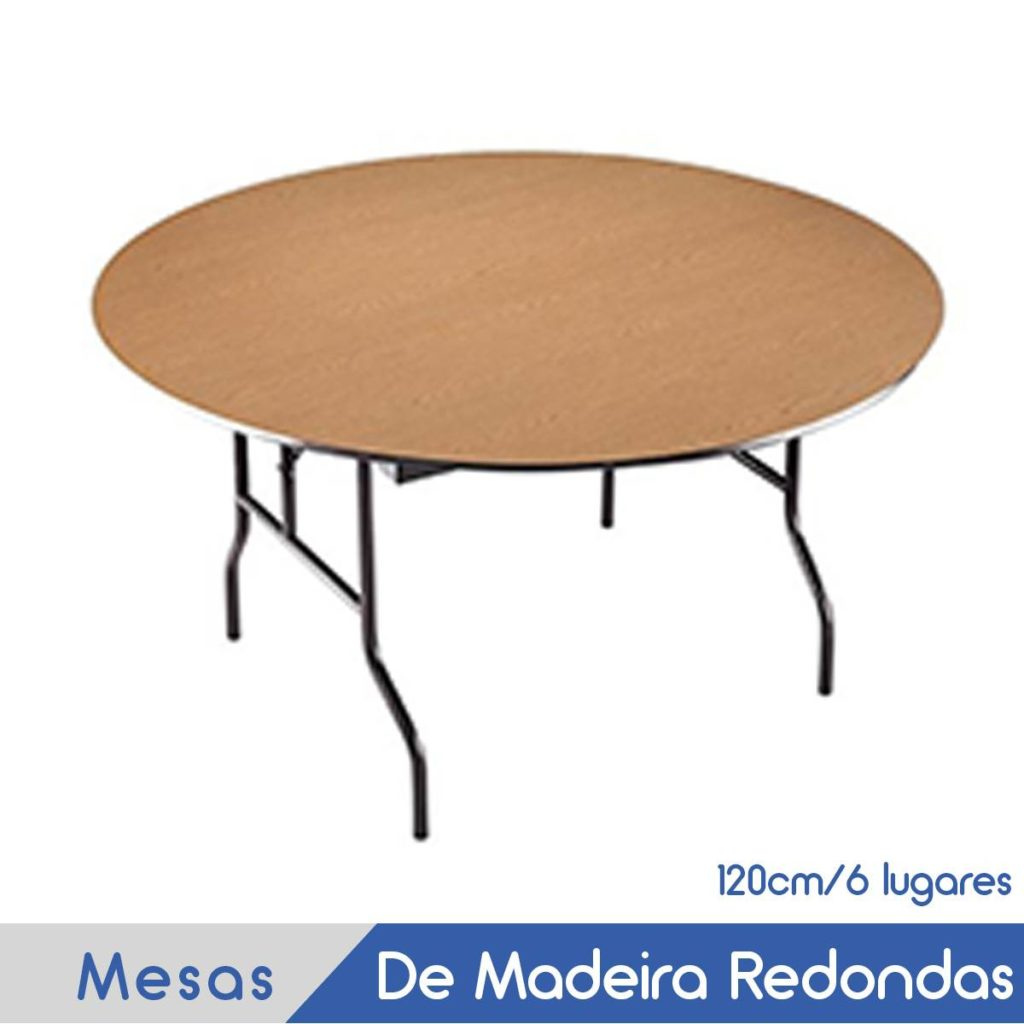 Imagem Mesas De Madeira Redondas 120cm 6 lugares