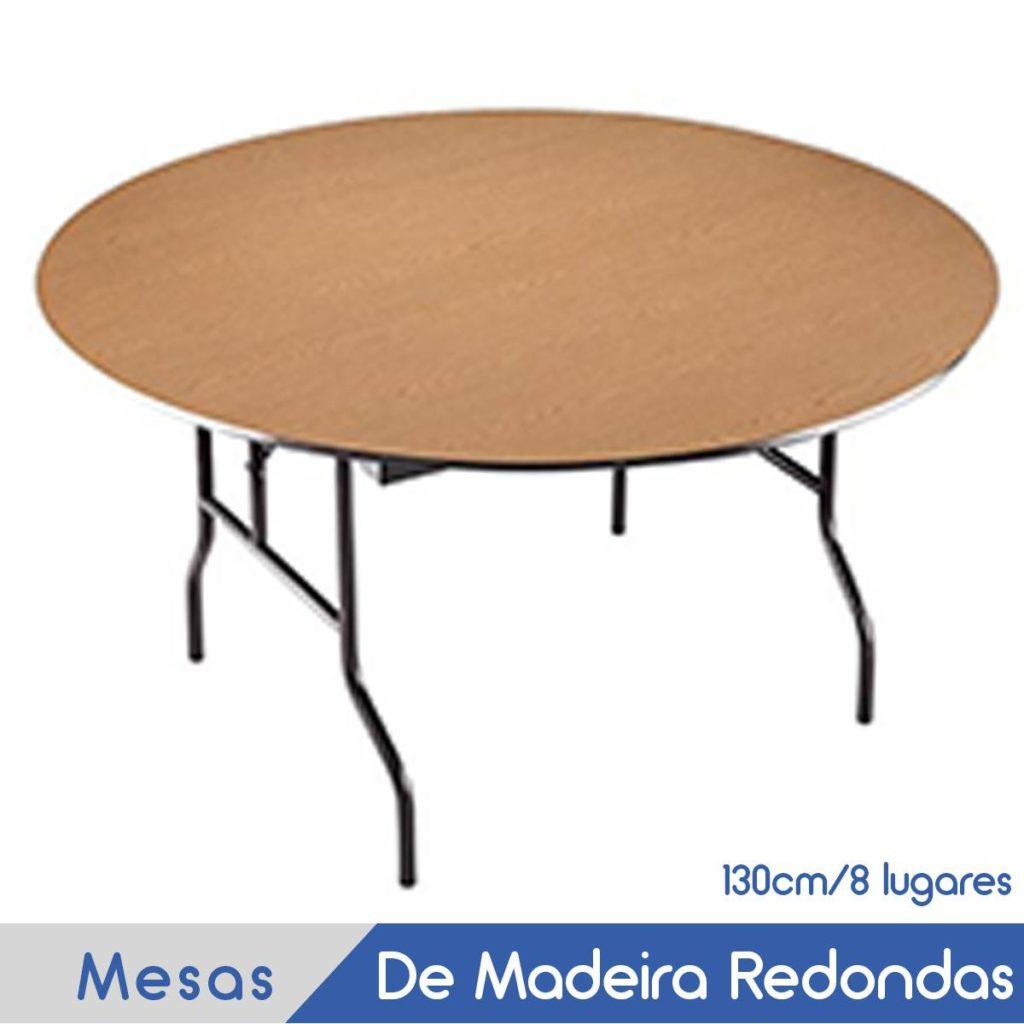 Imagem Mesa Redonda de Madeira para 6 lugares
