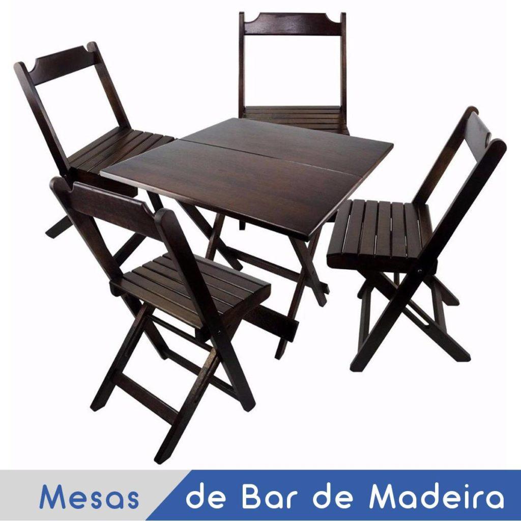 Imagem Mesas de Madeira Dobrável