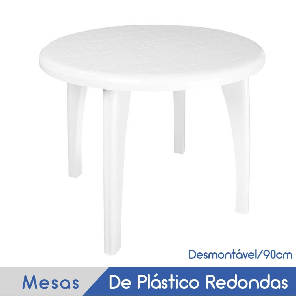 Imagem Mobílias Plásticas Redondas para 6 Pessoas